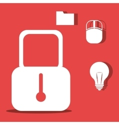 Padlock and bulb light vector