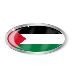 Palestine flag oval button vector