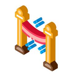 Passage closed isometric icon vector