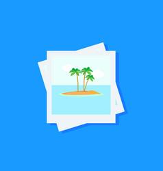 Photo icon flat vector