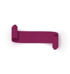 Realistic scroll purple greeting Ribbon vector image