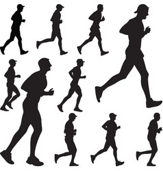 runner silhouette run vector image