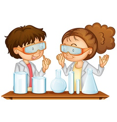 Science Lab vector image