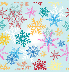 seamless christmas pattern with vector image