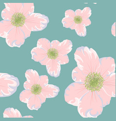 spring summer flowers seamless pattern vector image