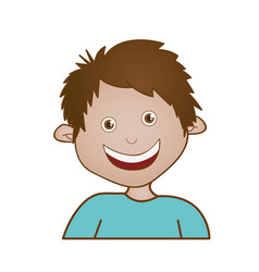 sticker happy boy icon vector image