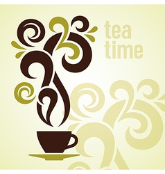 Tea Time Vintage vector image