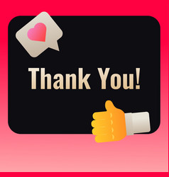 thank you post banner template for social media vector image