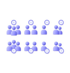 time management user business people icon set vector image