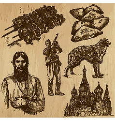 Traveling Russia - An hand drawn pack vector