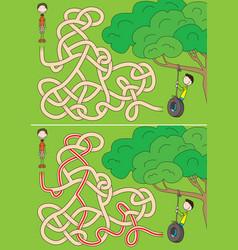 Tyre swing maze vector