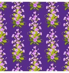 Violet primroses pattern vector