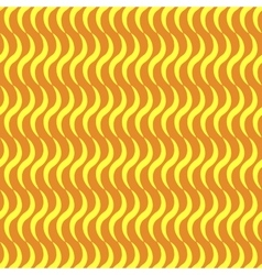 Wavy line yellow seamless pattern vector