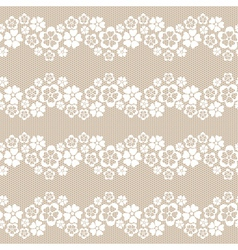 White flower lace background vector