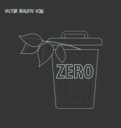 zero waste icon line element vector image