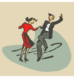 Couple dancing rocknroll vector