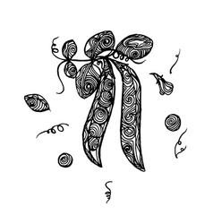 peas sketch vector image
