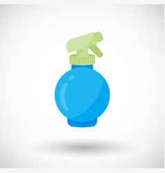 spray bottle flat icon vector image