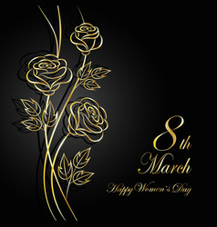 womens day greeting card vector image