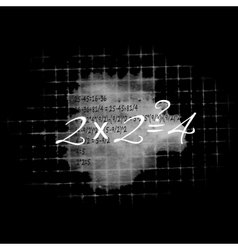 Board with formulas vector image vector image