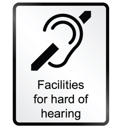 Hard of hearing Information Sign vector image