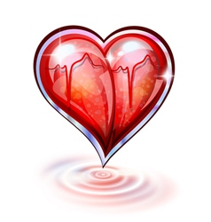 Heart of glass vector image vector image