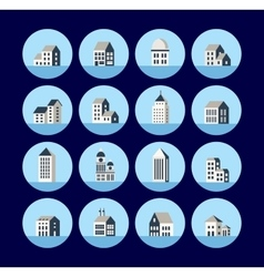 Icons of the building vector image vector image