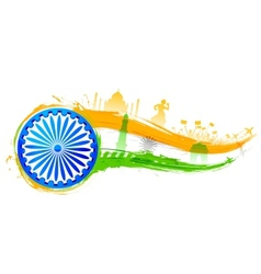 India background with monument vector image