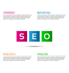 minimalistic seo infographic template vector image