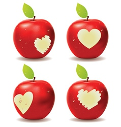 Red Apple Bite vector image
