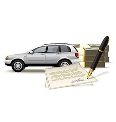 Safe buying and selling a car for cash vector image vector image