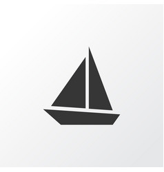 sail boat icon symbol premium quality isolated vector image vector image
