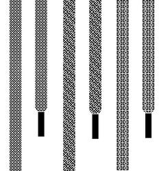 shoe lace seamless symbols vector image
