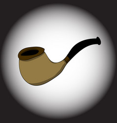 smoking tube on a black gradient background vector image vector image
