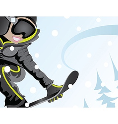 girl snowboarder vector image vector image
