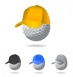golf mascot vector image vector image