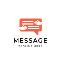 message communication logo design template symbol vector image