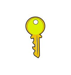 color sketch key vector image