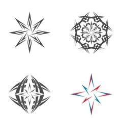 Logo star of Bethlehem vector image