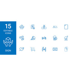 15 sign icons vector