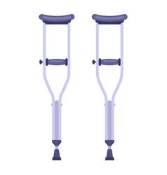 A pair iron crutches to move a person vector