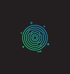 aim archery focus goal success target icon design vector image