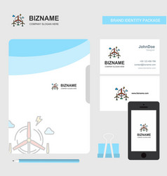 air turbine business logo file cover visiting vector image