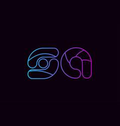 Alphabet letter combination sa s a logo company vector