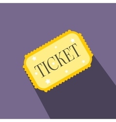 Amusement park ticket flat icon vector image