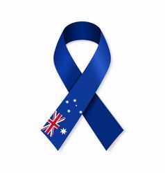 australian flag stripe ribbon on white background vector image