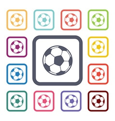 Ball flat icons set vector