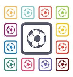 ball flat icons set vector image