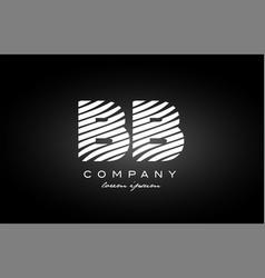 Bb b b letter alphabet logo black white icon vector