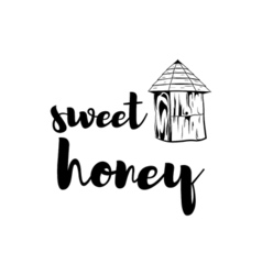 Beehive Sweet honey badge Vintage vector image